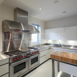 Stainless steel worktops for domestic pro kitchen